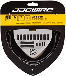 Jagwire 2X Sport Shift Adult Unisex Shift Cable and Sheath Kit, Black, One Size