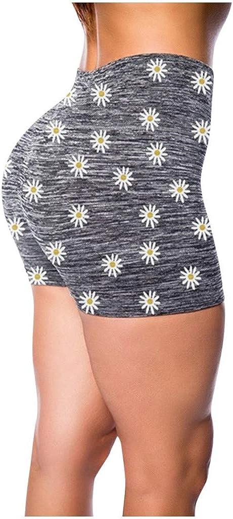 Handyulong Women's NEW before selling ☆ Plus Size High Workout Charlotte Mall Running Waist F Shorts