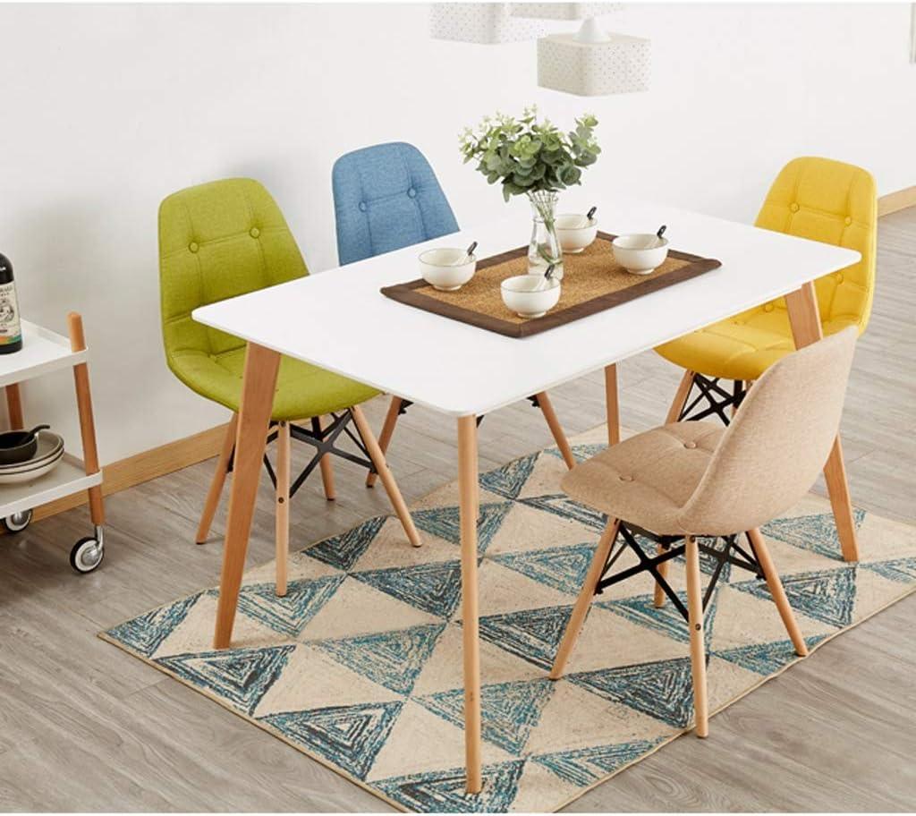 WDX- Chaise de Salle, Chaise de Bureau Simple, créative Dossier, Chaise Loisirs, Maison Adulte Chaise de Salle Confortable (Color : Blue) Khaki