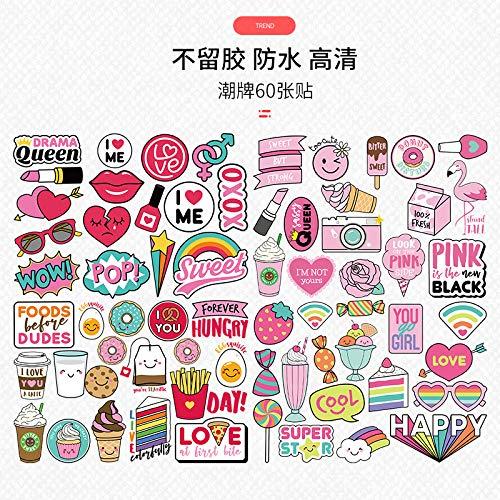 Mode Winkelen Bagage Sticker Koffer Notebook Skateboard Gitaar Stickers Meisje Waterdicht Geen Getij Merk Persoonlijkheid Decoratie Doodle Cartoon Creatieve Trend