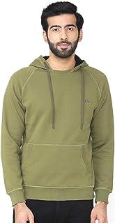 Bonjour Men's Hooded Solid Sweatshirt