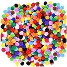Acerich 1500 Pcs 1cm Assorted Pompoms Multicolor Arts and Crafts Fuzzy Pom Poms Balls for DIY Creative Crafts Decorations