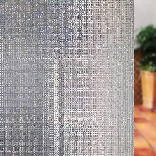 LMKJ Sichtschutz Fenster Aufkleber 3D Mosaik PVC elektrostatisch gefrostet Vinyl Selbstklebende Glasfolie Fenster Sonnenschutz Glas Aufkleber A14 45x200cm