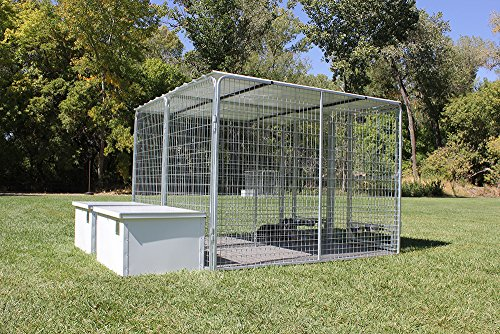 Cove Products X2 K9 Condos 4' X 8' Multiple Kennels + Dog House Combination