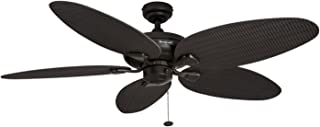 Honeywell Duvall 52-Inch Tropical Ceiling Fan with Five Wet Rated Wicker Blades, Indoor/Outdoor Rated, Bronze