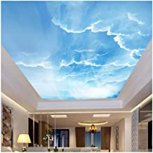 xbwy 3D Wall Mural Sky White Clouds Custom 3D Photo Wallpaper Natural Scenery for Walls Ceiling Mural Wall Wall Paper Home Decoration-400X280Cm