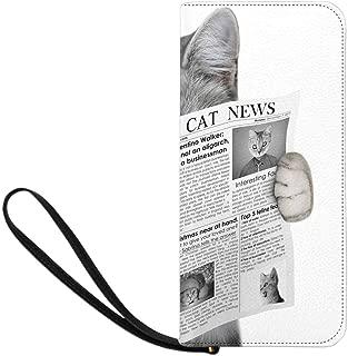 Women's Cat Walking in Grass Clutch Purse Card Holder Organizer Ladies Purse