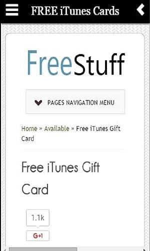 『FREE iTunes Cards』の3枚目の画像