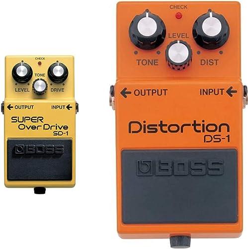 BOSS Super Overdrive Guitar Pedal (SD-1) & Distortion Guitar Pedal, Single Mode (DS-1)