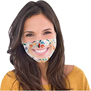 ATRISE 1PC Face Mask Smile Communicator with Clear Expression Lip Reading Unisex Mouth Cover,Face Cover