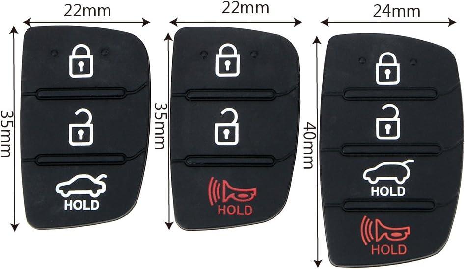 1 Stück Auto Ersatzteile Für Hyundai Ix35 Ix45 Autoschlüssel Gummiknopfpolster Autoschlüssel Shell Fernschlüssel Fall Abdeckung 3 4 Tasten 3 Taste Auto