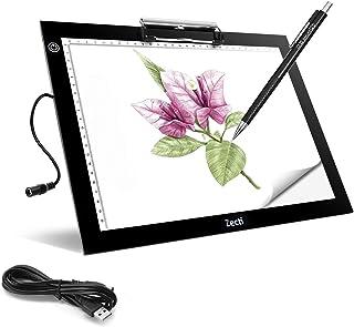 Zecti Mesa de Luz A4, LED Tableta de Luz A4 Portátil con