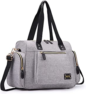 HaloVa Duffle Bag, Weekender Travel Tote, Unisex Overnight Shoulder Bag for Men and Women with Detachable Shoulder Strap, Lightweight and Multifunction, Dark Gray