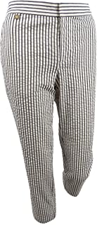 Lauren by Ralph Lauren Women's Seersucker Striped Pants