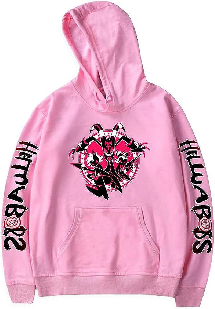 SIDULSOP Unisex Helluva Boss Hazbin Hotel Hoodie Sweatshirt Pullovers Hooded hoodies For Adult/Yonth