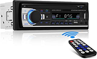 Andven Autoradio mit Bluetooth Freisprecheinrichtung, MP3 Player Receiver für iPhone/iPad/iPod/Smartphone, Unterstützung FM/Dual USB/AUX/TF Karten