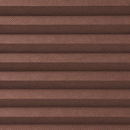 Liedeco® Thermo-Plissee freihängend mit Klemmträger / 100 x 130 cm mocca (Breite x Höhe) / lichtdurchlässig blickdicht und stufenlos verstellbar / Wabenplissee / leichte Innen-Montage ohne Bohren / 123 montiert / Klemmfix-Plissee farbig zum Klemmen fürs Fenster / viele Farben und Größen / Sonnenschutz und Fensterdekoration innen / Rollos Falt-Plissee Jalousien Zubehör von Liedeco