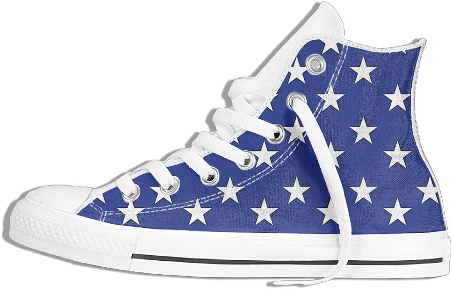 Unisex High Top Sneakers US FLAG 50stars Classic Canvas shoes Breathable Sneaker