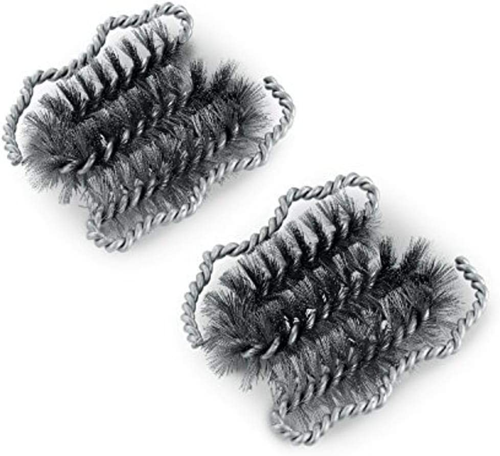 Weber 6709 Ranking Max 90% OFF TOP3 Style Replacement Silver Brush Heads 2-Pack