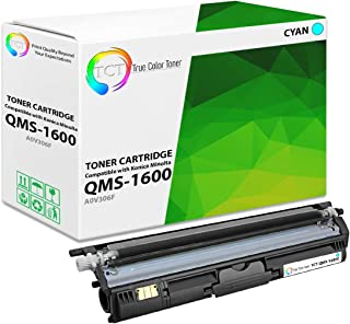 TCT Premium Compatible Toner Cartridge Replacement for QMS 1600 A0V306F Cyan Works with Konica Minolta Magicolor 1600 1650...
