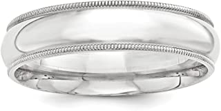 Solid .925 Sterling Silver 7mm Milgrain Comfort Fit Band