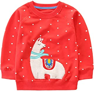 Bumeex Toddler Girl Sweatshirt Clothes Outfit,Cotton Crewneck Christmas Clothing