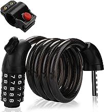 GARDOM Candado de Bicicleta, Candado de Cable Combinación de 5 dígitos, Impermeable, Flexible, Antirrobo Candado para Bicicleta MTB
