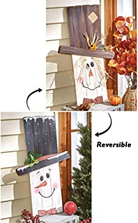 reversible snowman scarecrow