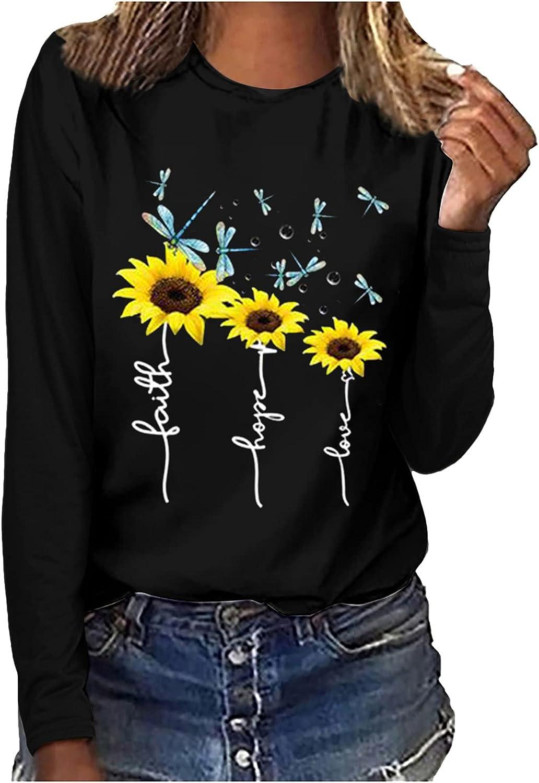 Womens Long Sleeve Tops,Women Print Casual Printing Long Sleeve Sweatshirt Pullover Tops Blouse