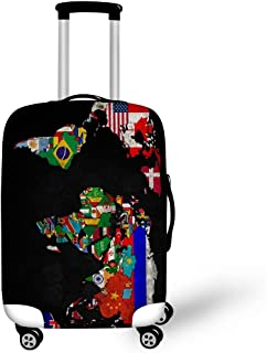 FOLPPLY Dinosaur World Map Luggage Cover Baggage Suitcase Travel Protector Fit for 18-32 Inch
