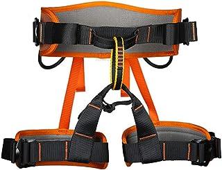HPDOE Protección contra caídas cinturón arnés cinturón certificación CE montañismo Escalada árbol Escalada Bombero al Aire Libre,Orange