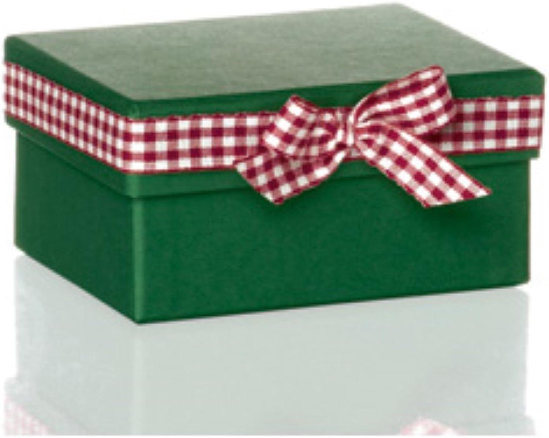 Rössler Papier - - Country Style-Kartonage m. Schleife, 90x115x60 90x115x60 90x115x60 mm, grün - Liefermenge  4 Stück B07CX5SD7B  | Zuverlässige Qualität  2c7561