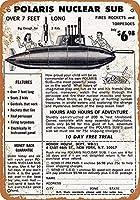ヴィンテージティンサインメタルプレートプラーク-ポラリス核サブおもちゃAS1932ティンウォールサインレトロな鉄の絵画ヴィンテージメタルプラークハンギングポスターバーカフェストアホームヤード