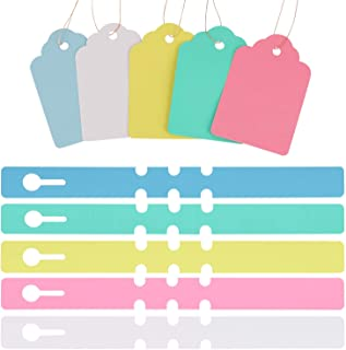 200 Pieces Plant Tags and Labels with String and Wrap Around Hanging Tags Waterproof Blank Name Tags Plant Markers for Outdoor Nursery Garden