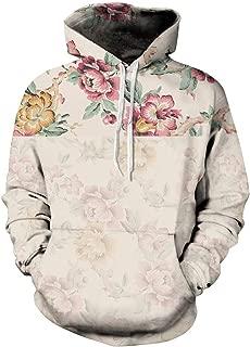 Womens' Unisex Realistic Big Pockets Drawstring Hoodie Sweatshirt