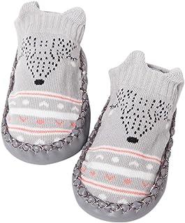 Invierno Bebé Niñas Niños Indoor Zapatillas Piso Calcetines Patrón De Dibujos Animados Calcetines Zapatos Antideslizante Calcetines Botines