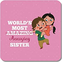 Family Shoping Birthday Gifts for Sister Worlds Most Annoying Sister Fridge Magnet Home Kitchen Office Décor