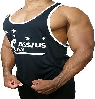 Men's Black Bodybuilding Gym Workout Tank Top Stringer Muscle Singlet T-Shirt