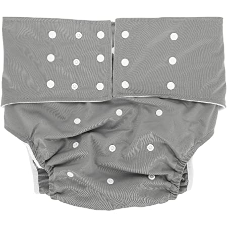Adult Pocket Nappy, Reusable AdjustableWashable Comfortable Adult Pocket Nappy CoverDiaper Cloth for the Old, the Disabled, Pregnant Woman(Grey)