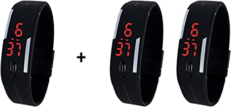 LEMONADE - LED Band Digital Black Dial Unisex Watch - (Buy 1 GET 2 Free)