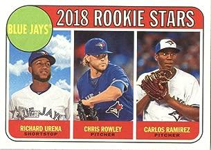 Baseball MLB 2018 Heritage #379 Carlos Ramirez/Chris Rowley/Richard Urena RC Blue Jays