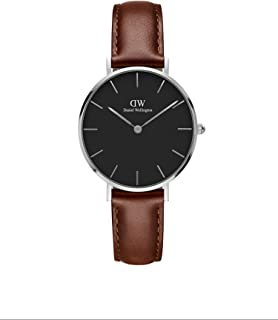 Petite St Mawes Silver Watch, 32mm, Leather, for Men and Women