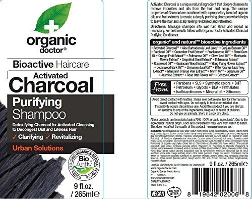 Organic Doctor Organic Charcoal Shampoo, 9 Fluid Ounce