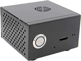 Geekworm Raspberry Pi X850 Metal Case with Cooling Fan Kit, Enclosure for X850 V3.0/V3.1 mSATA SSD Expansion Board /X860/X870 Board with X735 V1.0 Board & Raspberry Pi 3 Model B+ / 3B /2B