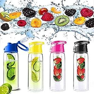 Bazaar 800ML Fruit Juice Infusing Infuser Water Bottle Sport Health Lemon Juice Bottle Flip Lid