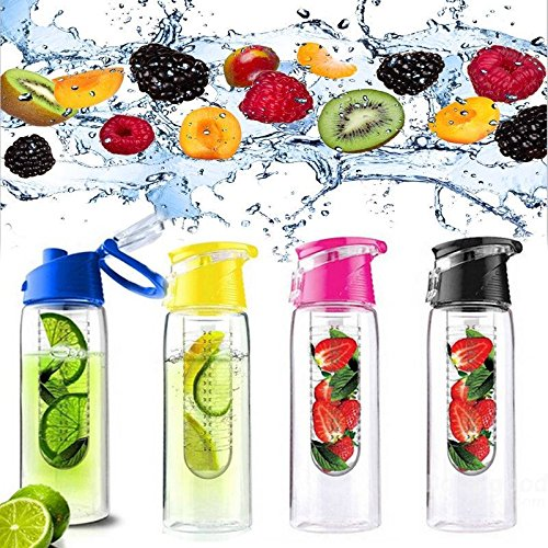 Mark8shop 800ML Fruit Juice Infuser Water Fles Sport Gezondheid Citroensap Fles Flip Deksel
