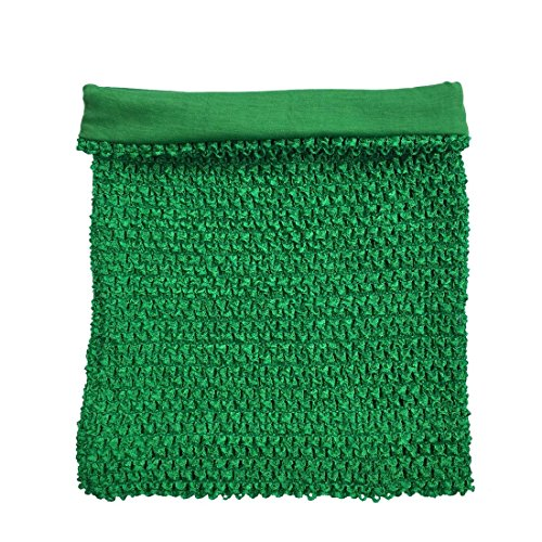 Green Crochet Tutu Top Lined 12 Inches X 10 Inches Elastic Crochet Tube Top