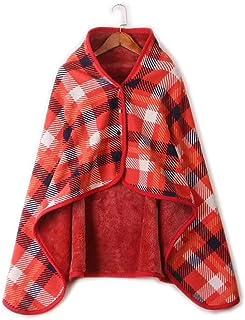 HOOWOOS Chal Manta Calefactora Multifuncional De Otoño E Invierno Mantón, para Mujeres Niños Y Hombres con 7 Estilos Y 3 Tamaños,Red,130x80cm