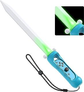 LED Game Sword Grip for The Legend of Zelda: Skyward Sword HD, MENEEA Adventure Games Accessories for Nintendo Switch Joy-...