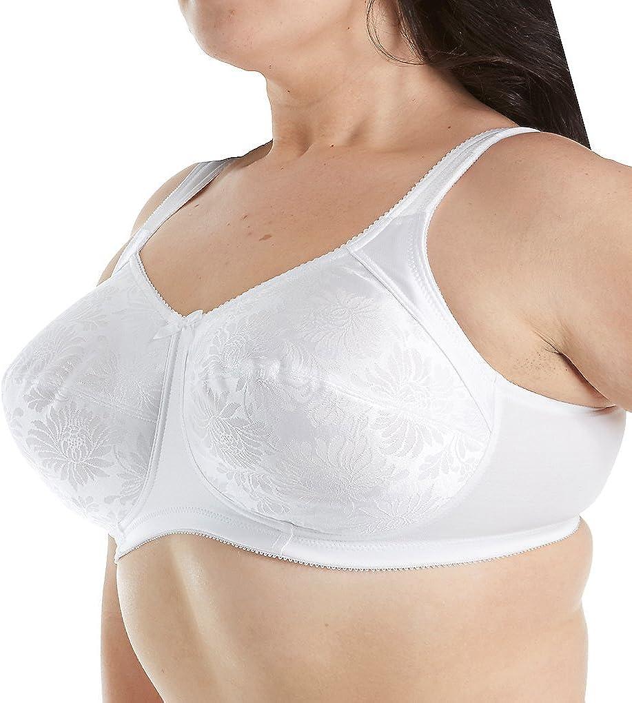 Aviana Women's Jacquard Softcup Bra 2353 34E White